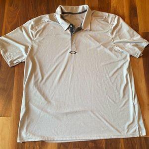 Oakley Men's Golf Shirt, Light Grey, XXL